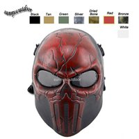 Wholesale Desert Corps Mask Outdoor Sports Equipment Face Protection Gear Shooting Full Face Tactical Airsoft Punisher Mask