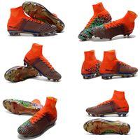 Venta al por mayor Superfly V FG mejores zapatos de fútbol zapatillas Mercurial x EA SPORTS zapatos Hombres Botas de fútbol Zapatos de fútbol Zapatos de deporte