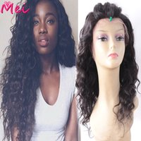 affordable african american wigs - Brazilian Natural Wave Full Lace Wig Heavy Density Affordable Lace Front Human Hair African American Wig Baby Hair