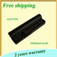 asus linux laptop - 100 new black v A22 A22 P701 laptop battery for Asus EEE PC G Surf Surf Linux Linux XP