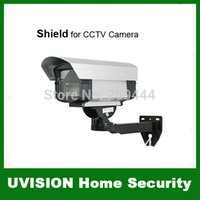 Wholesale Security Camera Outdoor Housings - Outdoor Security CCTV Camera Aluminum Shield Housing w  Bracket free shipping