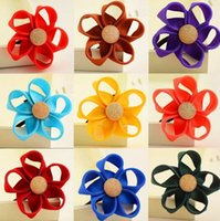 Wholesale Ponytail Holders Hair Ring Scrunchies For Girl Rubber Band Tie Lovely candy color flowers