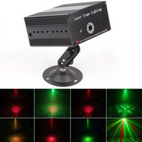Wholesale 2016 NEW Patterns Mixing Laser Projector Stage Lighting Effect Blue LED Stage Lights Show Disco DJ Party Lighting