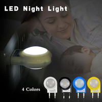 Wholesale New arrival Mini LED Night Light AC110V V W Lighting Auto Sensor Smart Baby Bedroom Lamp Color EU Plug Night lamp