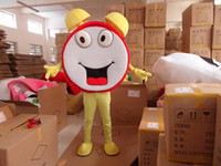 Wholesale 2High Quality mascot costumes for adults christmas Halloween Outfit Fancy Dress Suit Alarm clock