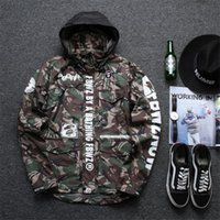 Wholesale 2016 New Jacket Men Harajuku Windbreaker Shark Army Camouflage Jackets Softshell Camo Military Uniform Jacket