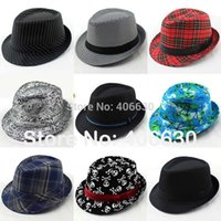 Wholesale Fashionable Cotton Blends Fedoras For Men Chapeu Masculino Panama Jazz Trilby Caps Gangster Hats