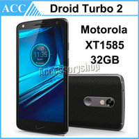 Wholesale Refurbished Original Motorola DROID Turbo XT1585 inch Octa Core GB RAM GB ROM MP Camera G LET Android Mobile Cell Phone