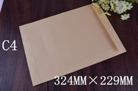 Wholesale 100pcs C4 Envelopes Peal Seal Quality Plain Posting Office Business mm x229mm Self Seal envelopes Office tool