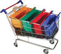 folding shopping cart - Newest Set Reusable Clip to Cart Organizer Supermarket Bag Supermarket Reusable Shopping Cart Organizer Bag