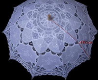 Wholesale New quot Vintage Cotton Lace Parasols Craft Wedding Flower Embroidery Umbrella Girl Parasol