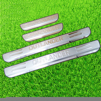 auto chrome plating - chrome stainless steel scuff plate door sill covers Welcome Pedal for Mitsubishi Outlander car styling auto accessories