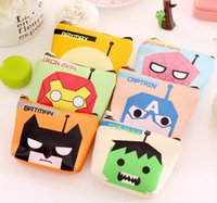 Wholesale NEW Fashion High quality Anime Super hero zipper coin purse canvas key holder wallet hasp small gifts bag clutch handbag