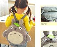 Wholesale School Backpack CM Fits Year Kids Kawaii Green Leaf TOTORO Plush Children Baby Kindergarten Backpack Shoulder Pack