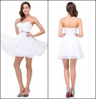 Wholesale Only Short Homecoming Dresses Real Image Pleated Chiffon with Rhinestones Lace up Back Mini Junior Graduation Gowns CPS352