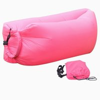 Wholesale Fast inflatable lounger laybag Seconds Quick Open laybag hangout Folding Sofa Sleep Bed with pocket down sleeping bag