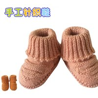 Wholesale 20 years old free size indoor Warm hand knitting baby prewalker shoes