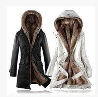 Wholesale 2016 New Free ship new style winter women s fur coats winter warm long coat clothes cotton Ms
