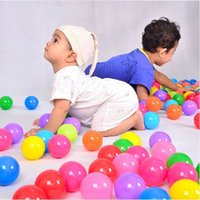 achat en gros de boule colorée douce-Eco-Friendly de 50pcs Colorful Soft Plastic Piscine oceanball bébé Funny Toys Stress Air Ballons Outdoor Fun Sports Jouer Pit Balls