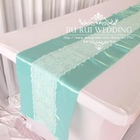 aqua blue table runners - 2016 New Fashion cm cm Aqua Blue Turquoise Mint Lace Table Runner For Wedding Home Table Decor