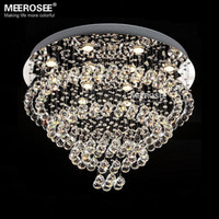 Wholesale Modern Luxurious Crystal chandelier light Spiral Crystal suspension lustre lamparasde lamp cristal for staircase stairs foyer