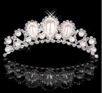Wholesale Rhinestone Pearls Crowns Jewelries Cheap Bridal Tiaras Wedding Party Bridesmaid Hair Accessories Headpieces Hair Band For Brides