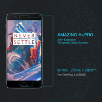 amazing cases - 10 Nillkin Amazing H Pro Tempered Glass Screen Film for Oneplus A3000 Screen Protector For Oneplus Three Case