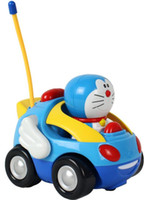 Wholesale New baby boys girl Doraemon Remote Control Electric toys car kids RC Car High speed Cute cat Cartoon musical light child Car toy