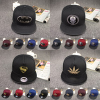 Wholesale New Fashion Casual Batman Hip Hop Snapback Caps Hat For Men Women Summer Style Letter Skull Superman Baseball Cap Hat Bone