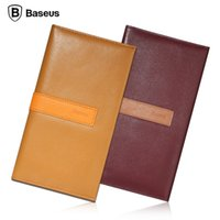 apple butter - BASEUS Chic Series Real Leather Wallet Phone Case For Apple iPhone s Plus inch Elegant Butter Milk Skin Cover