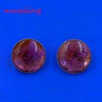 bead cuffs - Earrings Ear Cuff Gem Stone Earring Ear Clip Earrings Round Bead Ear Cuff European Fashion Jewelry For Women Pairs