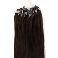 Wholesale 16 inch black brown blonde brazilian remy human hair g g g S Micro rings loop hair Hair Extensions stock sliky straight