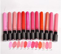 Wholesale 38 color matte velvet matte lip gloss lipstick waterproof does not fade lasting non stick Cup and retail