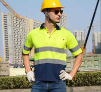 Wholesale Reflective Safety Clothing High Visibility Working Safety Construction M MeshT shirt Warning Reflective traffic working RS Quick drying