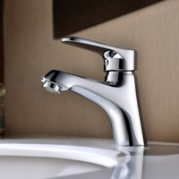 bathroom sink valve - Bathroom Basin Faucets Polished Chrome Deck Mounted Ceramic Valve Core Sink Faucets Taps with Brass for Sale