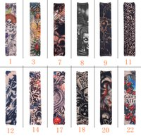 arm sleeve covers for tattoos - Fashion New Tattoo Sleeves arm warmer Arm Cover Stockings Skull for biker Cycle skateboard CS Game Outdoor Bicycle