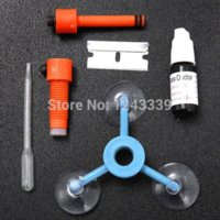 automobile glass repair - Newest DIY Car Automobile Windshield Repair Kit tools Auto Glass Windscreen Repair Set Give Door Handle Protective Stickers