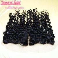 Wholesale 8Abrazilian deep curly weave lace closure13x4 human hair chinese Peruvian Malaysian Mongolian deep wave swiss lace closure