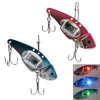 Дешевый Синий свет манит-Горячая рыбалка Crank приманки Приманка Deepwater Salmon Пайк Бас с мигающий светодиод красный / синий FHG_007