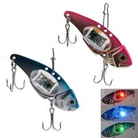 big bass fishing - Hot Fishing Crank Lure Bait Deepwater Salmon Pike Bass with Flashing LED Light Red Blue FHG_007