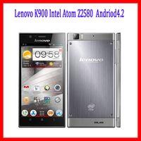 Precio de Lenovo k900-Orgional <b>Lenovo K900</b> Intel Atom Z2580 de doble núcleo Andriod4.2 5.5inch FHD 1920x1080pixels móviles 2G RAM 16G / 32G de doble cámara de 13 MP Android