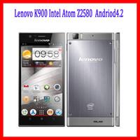 Cheap Orgional Lenovo K900 Intel Atom Z2580 Dual core Andriod4.2 5.5inch FHD 1920x1080pixels 2G RAM 16G 32G Dual Camera 13MP Android phones