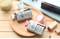 Wholesale Cute Roller Stamps DIY Words and Date Scrapbooking stamp vintage zakka carimbo de scrapbook deco material school supplies