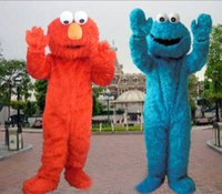 Wholesale High quality Sesame Street Elmo and Cookie Monster Mascot Costume