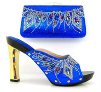 beautiful in italian - beautiful women shoes Latest Coming Elegant Italian Shoes and Bag Set Matching Fashion Dress Shoes And Bags In Blue Color