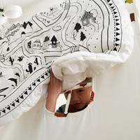baby village - INS Fashion Europe Newborn Baby blanket village animal road pattern lovely for Air conditioning blanket Carpet mat game quilt