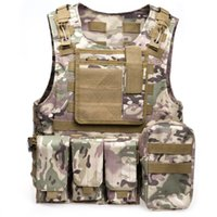 Wholesale Amphibious Tactical Military Molle Waistcoat Combat Assault Plate Carrier Vest for Outdooor Hunting