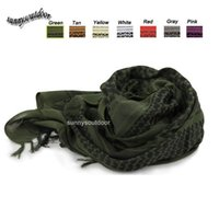 Wholesale Outdoor Equipment Airsoft Paintball Shooting Gear Headscarf Veil Neckerchief Tactical Airsoft Shemagh Shawl Keffiyeh Arabic Scarf