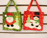 Wholesale Christmas Snowman Santa Claus Candy Gift bag Treat Bags Kids Present Wrap favors Bag party Holiday decor Gift Wrap red festive supplies