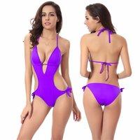 best slimming swimsuits - Europe and America Best Sellers swimwear triangle bikini women s sexy swimwear fashion Deep V Gather Siamese Swimsuit Slim Thin